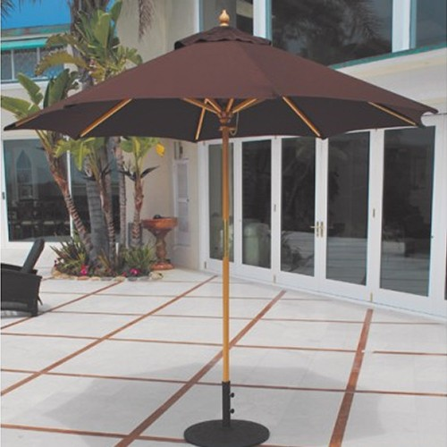 9' Wood Market Umbrella by Galtech