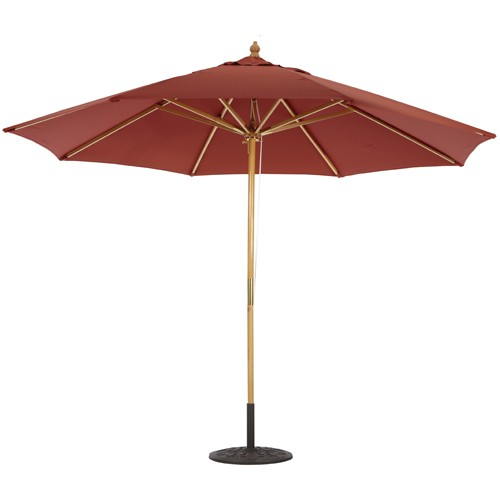 11' Wood Market Umbrella Deluxe