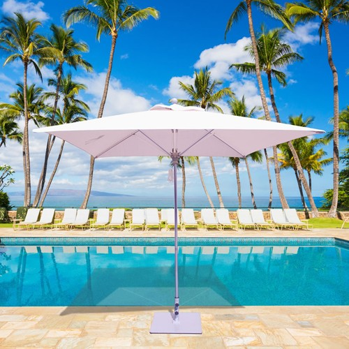 8' x 8' Square Commercial Patio Umbrella