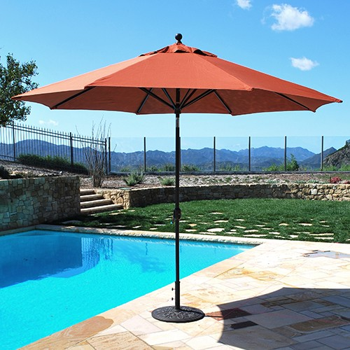 11' Auto Tilt Aluminum Patio Umbrella