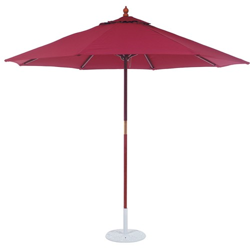 9' Deluxe Wood Market Umbrella with Light Wood